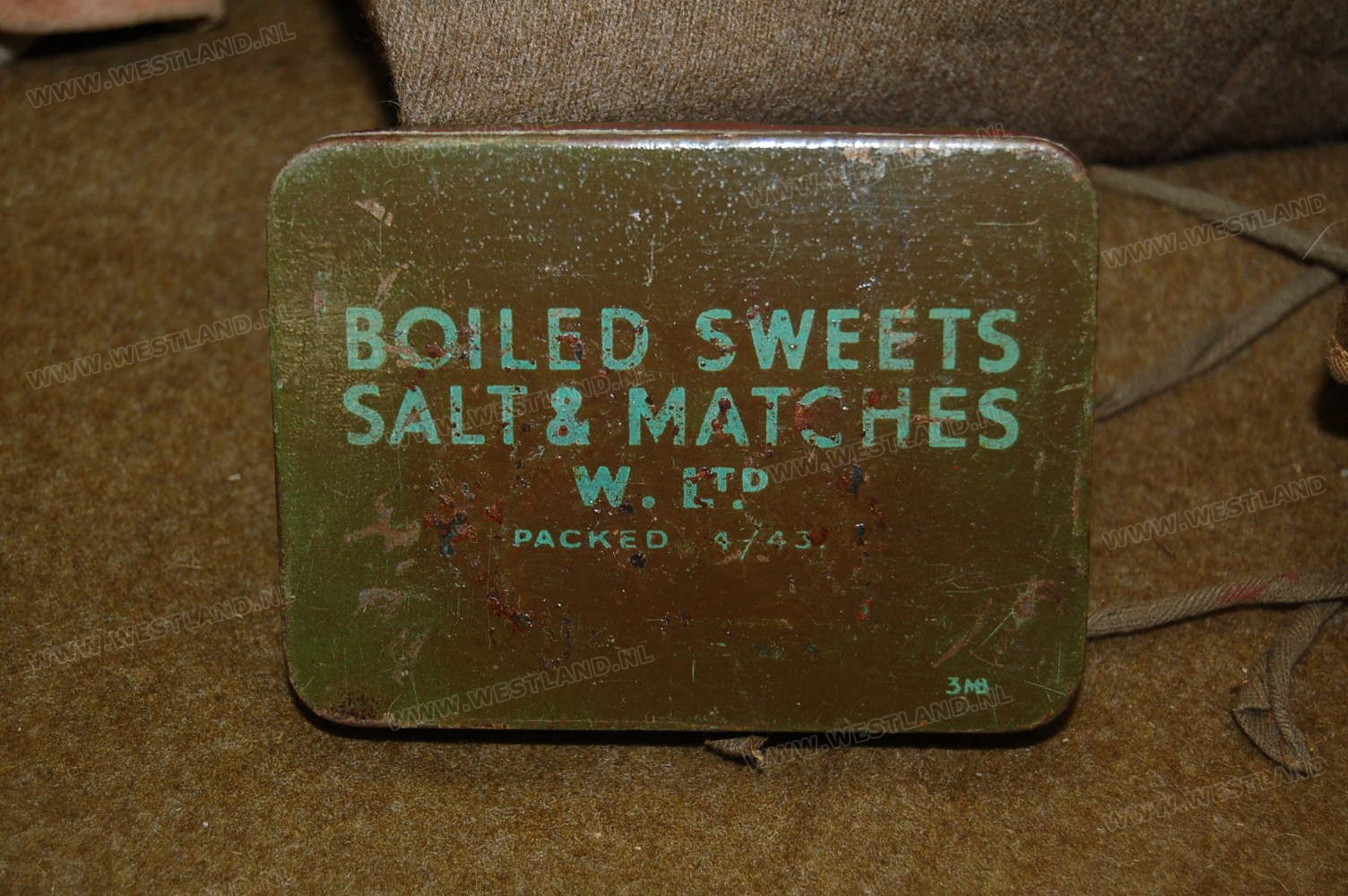 Boiled Sweets Salt And Matches Ration Tin