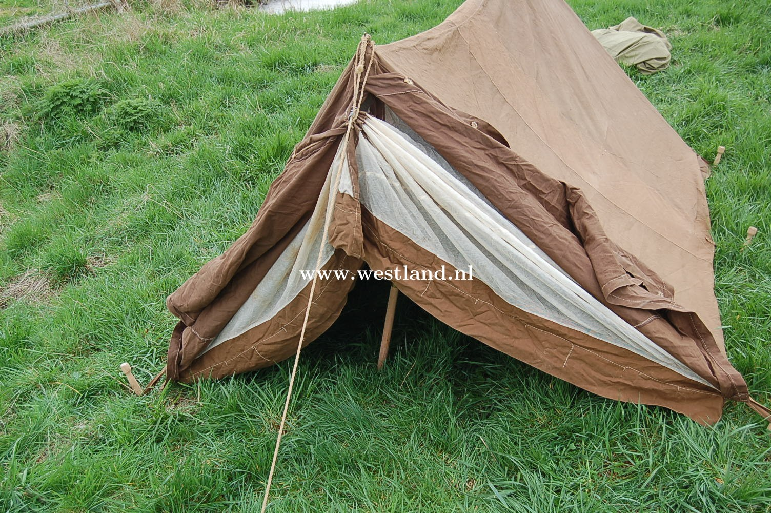 & WWII british dated pup tent