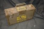 British 9mm ammo box with tin