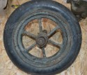 spare Rim axcle and tire for M3a4 hand cart