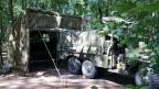 Vehicle command post tent