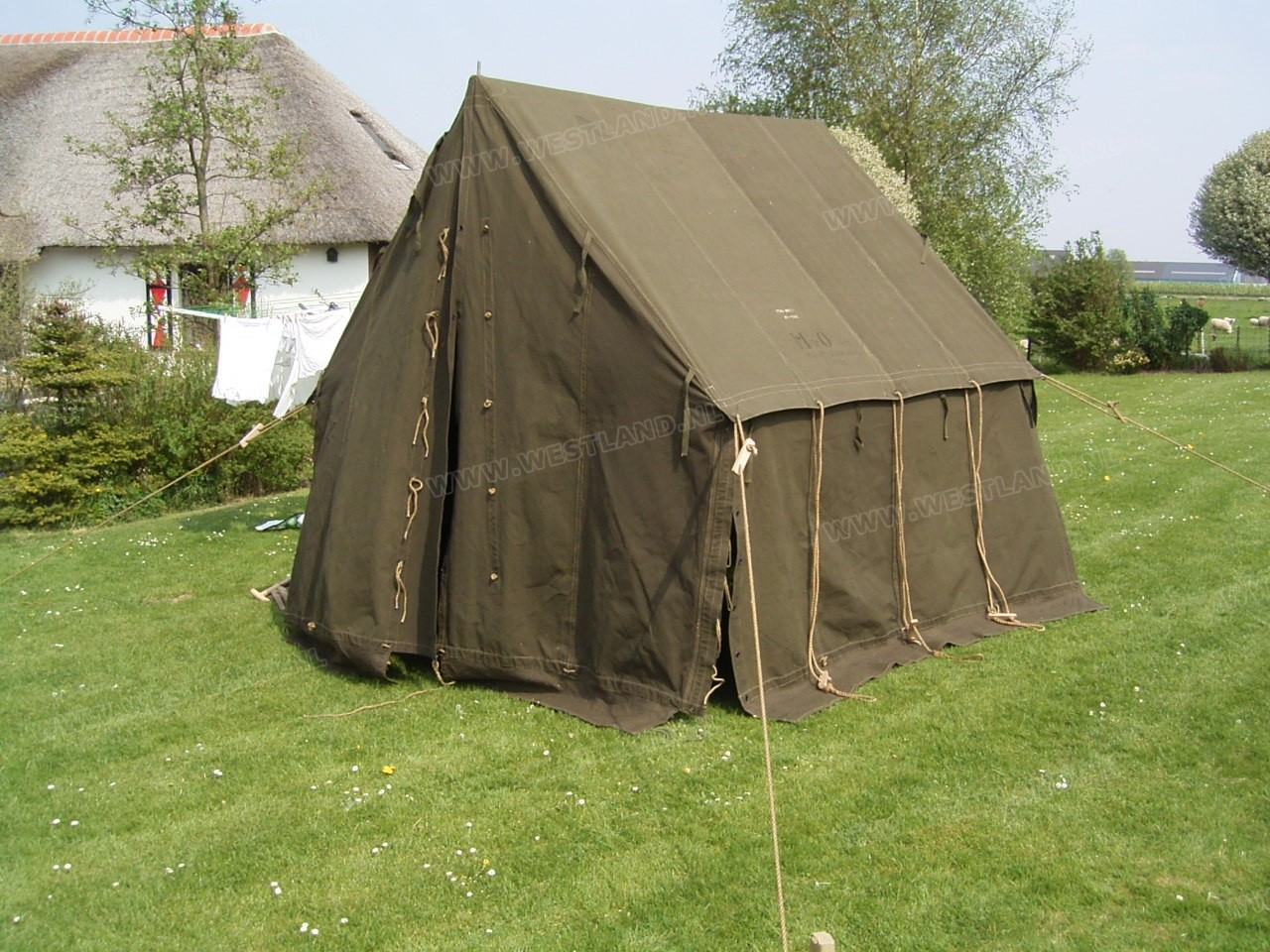 Original Us Made 1951 Dated Small Wall Tent